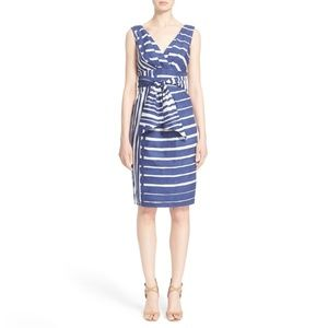MaxMara tie waist striped cotton dress